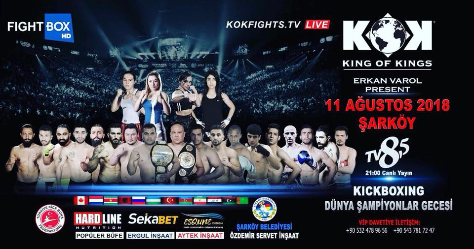 Results for FightBox's KOK Hero's World Series from Sarkoy, Turkey 11.08.2018