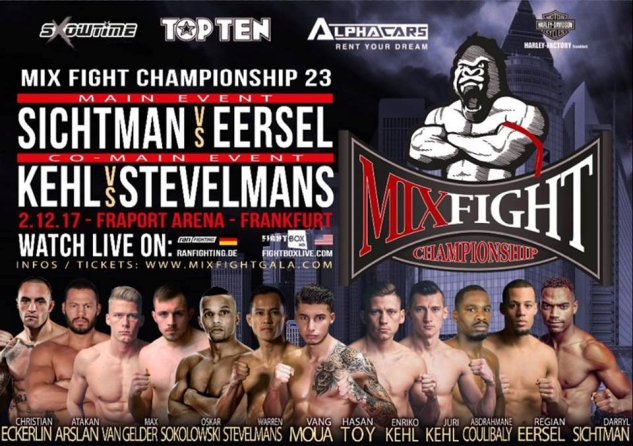 Results for Mix Fight Championship 23 LIVE on FightBox HD 02.12.2017