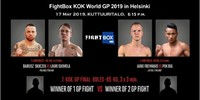 Results for FightBox's KOK World GP in Helsinki, Finland 17.05.2019