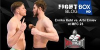 December 2017: Enriko Kehl vs. Arbi Emiev at MFC 23