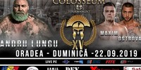 Results for Colosseum Tournament Kickboxing XV from Oradea, Romania 22.09.2019